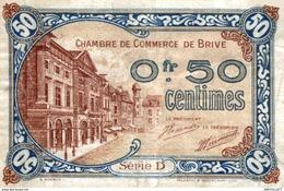 1232-2019     CHAMBRE DE COMMERCE DE  BRIVE 50 CENTIMES - Camera Di Commercio