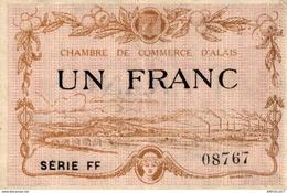 1252-2019     CHAMBRE DE COMMERCE D ALAIS  1 FRANC - Camera Di Commercio