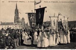 5607 -2019    LE FOLGOET   LE GRAND PARDON DU 8/09?, LES BANNIERES DE PLOUIDER - Le Folgoët
