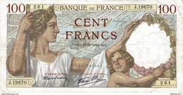 7641-2019    BILLET  DE BANQUE 13-03-1941 - 100 F 1939-1942 ''Sully''