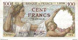 7642-2019    BILLET  DE BANQUE 13-03-1941 - 100 F 1939-1942 ''Sully''
