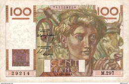 9824  -2018   BILLET FRANCAIS 100F JEUNE PAYSAN 07-2-1949 - 1871-1952 Antichi Franchi Circolanti Nel XX Secolo