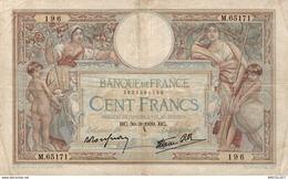 9839  -2018   BILLET FRANCAIS 100F LUC OLIVIER MERSON 30-3-1939 - 1871-1952 Antiguos Francos Circulantes En El XX Siglo