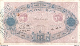 9961 -2018  BILLET 500FRANCS BLEU ET ROSE 25 AOUT 1926 - 1871-1952 Antichi Franchi Circolanti Nel XX Secolo
