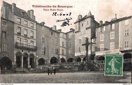 30-2019   VILLEFRANCHE DE ROUERGUE   PLACE NOTRE DAME - Villefranche De Rouergue