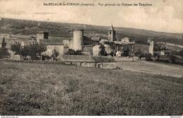 57-2019    STE EULALIE DE CERNON   VUE GENERALE DU CHATEAU DES TEMPLIERS - Autres Communes