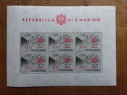 SAN MARINO - EUROPA 1962 - BF 35 Nuovo ** + Spese Postali - Blocchi & Foglietti