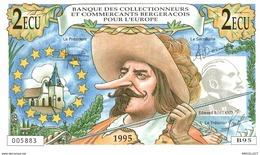 381-2019    BILLET FRANCAIS De 2 ECU OU 14 FRANCS COLLECTIONNEURS BERGERACOIS ET CREDIT AGRICOLE - Francia