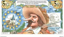 382-2019    BILLET FRANCAIS De 5 ECU OU 35 FRANCS COLLECTIONNEURS BERGERACOIS ET CREDIT AGRICOLE - Andere