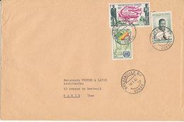 Congo Brazzaville Big Size Cover Sent To France 10-3-1962 - Used