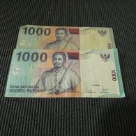 2 Banknotes 1000 Rupiah Indonesia - Munten & Bankbiljetten