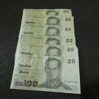 6 Banknotes Thailand 20 Baht - Mezclas - Billetes