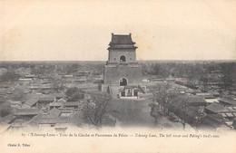 CPA CHINE TCHOUNG LEOU TOUR DE LA CLOCHE ET PANORAMA DE PEKIN - China