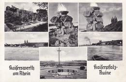 Kaiserswerth (Düsseldorf) * Kaiserpfalz Ruine, Schlageter Kreuz, Denkmal, Mehrbild * AK144 - Düsseldorf