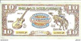 REF 1105-2018 DOLLARD MIRANDAIS EMIS LORS DU FESTIVAL DE COUNTRY DE MIRANDE GERS  JUILLET 1995 - Ficción & Especímenes