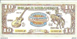 REF 1105-2018 DOLLARD MIRANDAIS EMIS LORS DU FESTIVAL DE COUNTRY DE MIRANDE GERS  JUILLET 1995 - Specimen