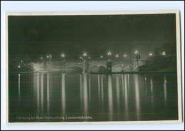 Y12699/ Hamburg Lombardsbrücke  Abendbeleuchtung Nachtaufnahme Foto AK 1929 - Deutschland