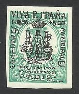 Spain, Cadiz 1 C. 1936, Sc # 8LB1, Mi # 1, MH - Nationalistische Uitgaves