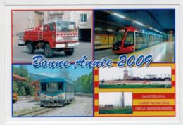 FRANCE    BONNE  ANNEE  2009   TRAIN- ZUG- TREIN- TRENI- GARE- BAHNHOF- STATION- STAZIONI  2 SCAN (NUOVA) - Treni