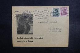 TCHÉCOSLOVAQUIE - Enveloppe Illustrée ( Chien ) De Praha Pour Praha En 1948  - A Voir - L 40675 - Cartas