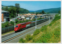 FRANCE  FROM  GERMANY    TRAIN- ZUG- TREIN- TRENI- GARE- BAHNHOF- STATION- STAZIONI  2 SCAN (VIAGGIATA) - Treni