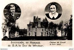 3951-2018  CHATEAU DE CANDE 3 JUIN 1937 SOUVENIR DU MARIAGE DE SA LE DUC DE WINDSOR - Francia