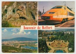 FRANCIA   BELFORT           TRAIN- ZUG- TREIN- TRENI- GARE- BAHNHOF- STATION- STAZIONI  2 SCAN (VIAGGIATA) - Treni