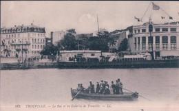 POSTAL TROUVILLE - LE BAC ET LES GALERIES DE TROUVILLE- LL 185 - ESCRITA - FRANCIA - CALVADOS - Trouville