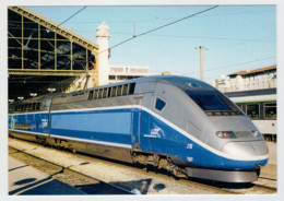 FRANCIA   MARSEILLE   GARE            TRAIN- ZUG- TREIN- TRENI- GARE- BAHNHOF- STATION- STAZIONI  2 SCAN (NUOVA) - Treni