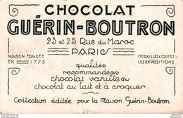 5398  -2018 CHOCALAT GUERIN-BOUTRON 23-25 RUE DU MAROC PARIS - Cartes De Visite