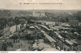 5420 -2018      FRUGES  VUE PANORAMIQUE UN JOUR DE FOIRE - Fruges