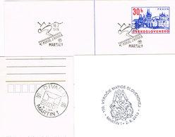 Tschechoslowakei/CSSR Ganzsachenkarte Mit Sonderstempel - Ski - Springer Novaka Aus Martin (Slowakei) - Wintersport - FDC