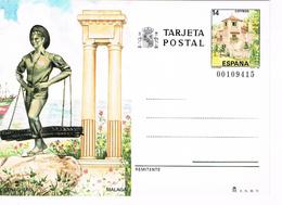 Spanien Bildpostkarte - Malaga, Skulptur, Säulen, Architektur - Ganzsachen
