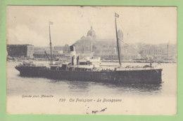 Marseille : LE BOCOGNANO De La Cie Fraissinet. Peu Courant. Paquebot. 2  Scans. Edition Guende - Paquebots