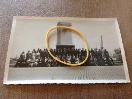 Nieuport Monument Anglais Groupe Photo Carte Originale - Nieuwpoort