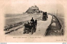 7766  -2018     MONT ST MICHEL  VUE PRISE DE LA DIGUE - Le Mont Saint Michel