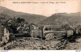 7980 2018    PONT DE MONTVERT   CENTRE DU VILLAGE   LES 2 PONTS - Le Pont De Montvert