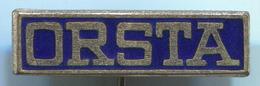 ORSTA - East Germany DDR, Hydraulik, Pump, Pompe, Enamel, Vintage Pin, Badge, Abzeichen - Merken