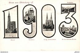 8158 - 2018  GRUSS AUS STRASBURG  DIVERSES VUES - Strasbourg