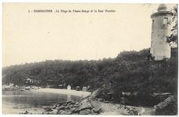 CPA 85 NOIRMOUTIER La Plage De L' Anse Rouge Et La Tour Plantier - Noirmoutier