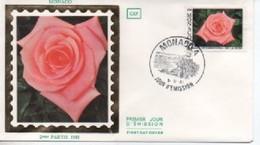 /FDC MONACO   ROSE   N° YVERT ET TELLIER  1297  1981 - FDC