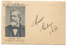 GIUSEPPE VERDI - Italy, Opera, Music, Composer, Traviata, Year 1899. - Cantanti E Musicisti