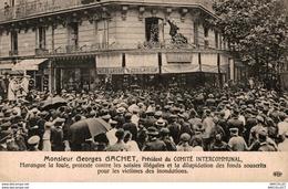 8884- 2018   PARIS    MONSIEUR GEORGES GACHET  PRESIDENT DU COMITE INTERCOMMUNAL HARANGUE LA FOULE - Autres