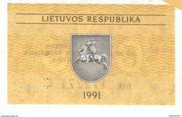 6136 -2019     BILLET BANQUE  LITUANIE - Litouwen
