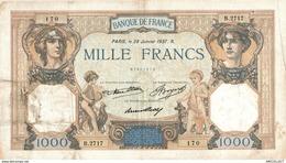 7362-2019    BILLET  DE  1000 F CERES ET MERCURE DU  28 JANVIER 1937 - 1871-1952 Antichi Franchi Circolanti Nel XX Secolo