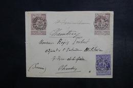 BELGIQUE - Affranchissement Plaisant De Bruxelles Exposition Sur Enveloppe Pour La France En 1897 - L 40688 - Belgique