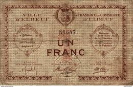 8610  -2019     BILLET CHAMBRE DE COMMERCE D ELBEUF - Chambre De Commerce