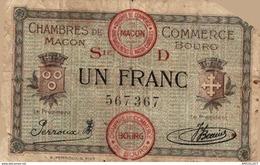 8616  -2019     BILLET CHAMBRE DE COMMERCE DE MACON BOURG - Camera Di Commercio
