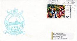 """(UB) BRD Umschlag Mit Cachet-Zudruck """"UNTERSEEBOOT """"U20"""" - NEC PLURIBUS IMPAR EF BRD Mi 816 TSt 25.11.1974 ECKERNFÖRDE 1 - U-Boote"""