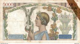 1419-2019   BILLET 5 000 FRANCS 11-7-1935 - 1871-1952 Anciens Francs Circulés Au XXème